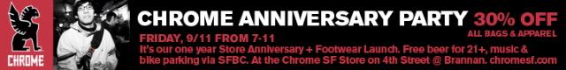 Chrome Bags Anniversary